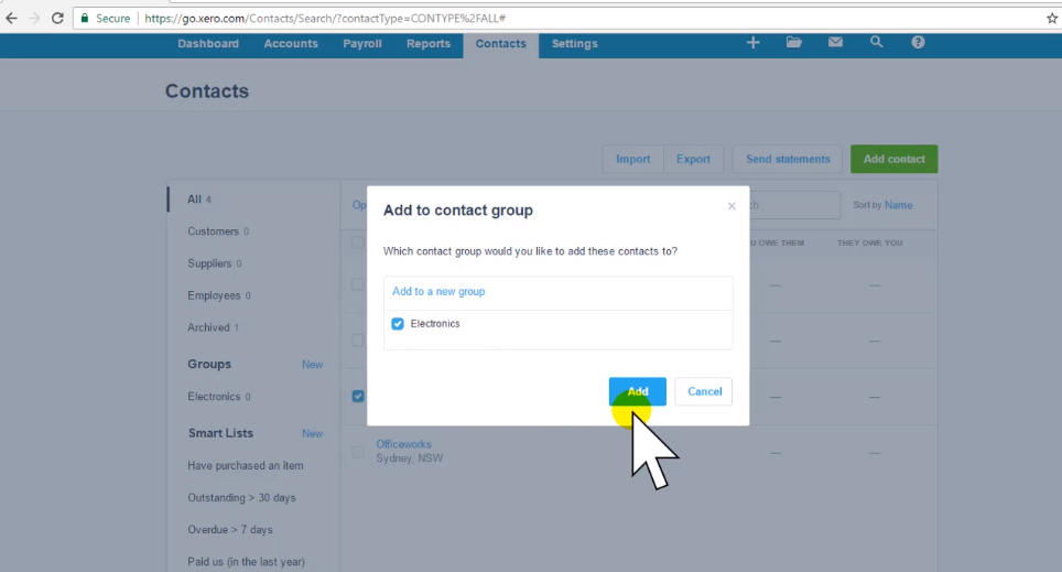How to Group Contacts - Free Xero Training Video Tutorial