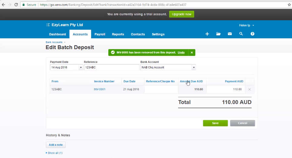 Void Invoice when payment is applied - Free Xero Training Video Tutorial