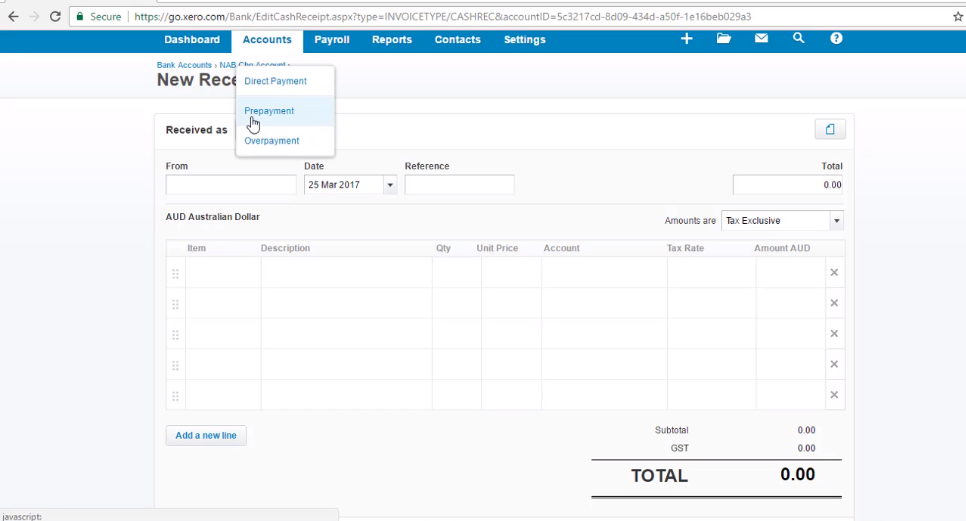 """How to Record Prepayments - """"Free Xero Training Video Tutorial"""