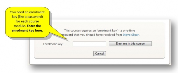 2 When in Career Academy LMS click on MYOB & Xero Bookkeeping Course and enter Enrolment Key